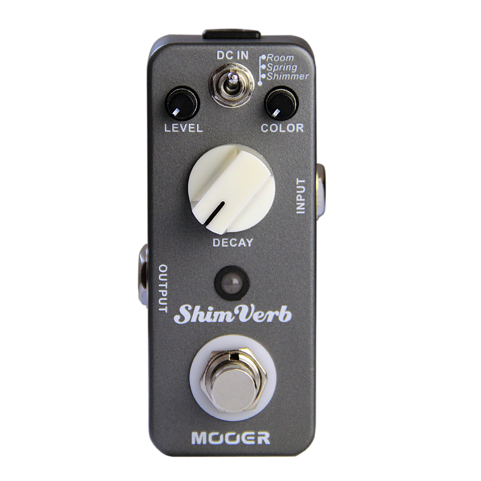 Guitar Effect pedal MOOER ShimVerb Guitar Effect Pedal Reverb Pedal True bypass Excellent sound mooer yellow comp optical compressing pedal true bypass full metal shell guitar effect pedal