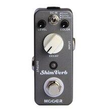 Гитары педаль эффектов MOOER ShimVerb гитары педаль эффектов реверберации педаль Правда обхода отличный звук