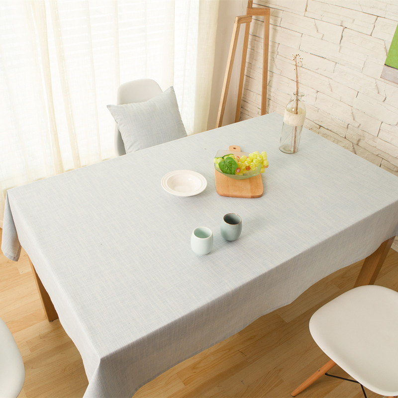 Free shipping light blue plain table cover cloth for dining table pastoral manteles para mesa - Light blue dining table ...