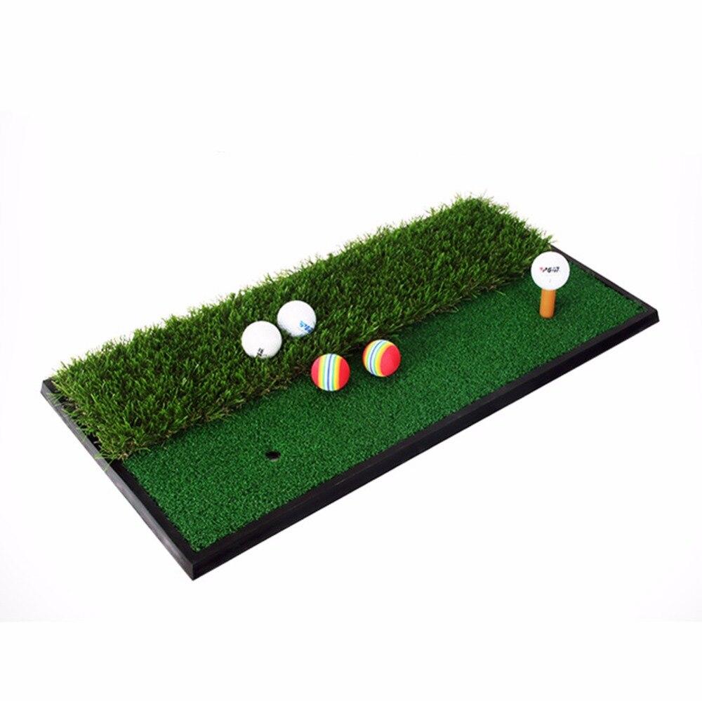 CRESTGOLF 33*63cm Backyard Exercise Golf Mat Training Hitting Mat Pad Green Grass Indoor Practice Mat With Rubber Tee Holder