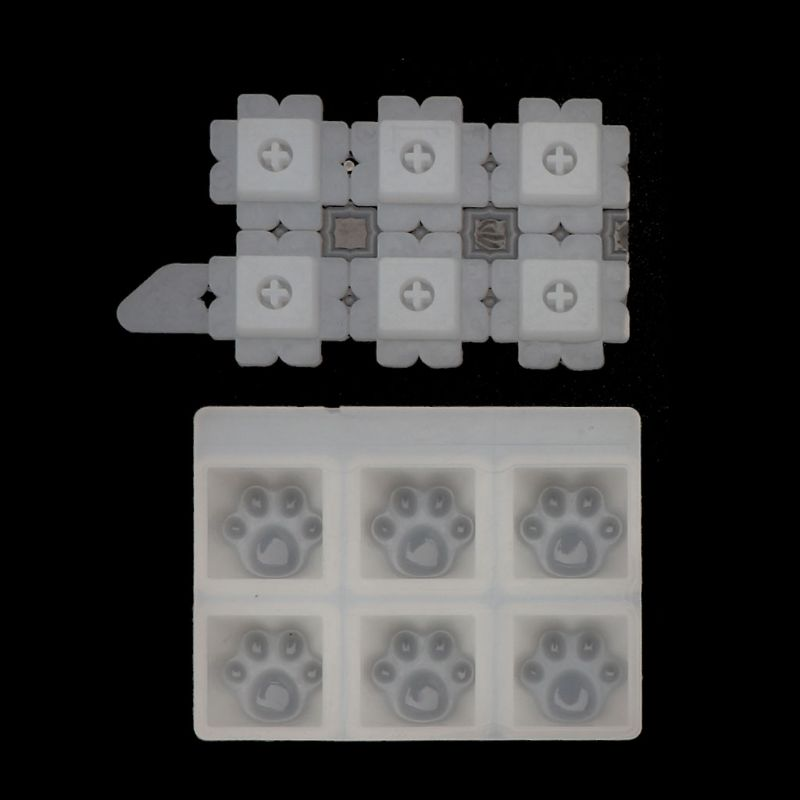 Mechanical Gaming Keyboard Mold Computer PC Gamer Pet Paw Keycaps Silicone Molds