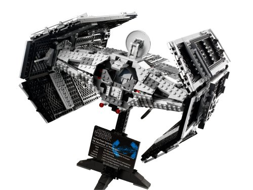 Star Wars Vader's TIE Advanced Starfighter The Rogue TIE One Vader Advanced Fighter Set Model Building Blocks Toys Legoing 10175