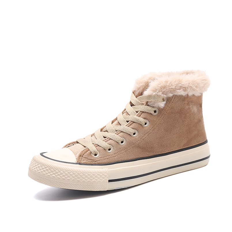 Botas Casual Khaki Mujer Mujeres Nieve De Moda Zapatos Invierno Para black gray Fidanei red 4Snwqx1gH