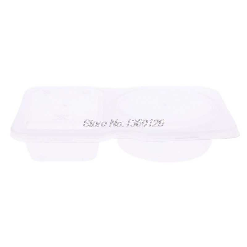 140ml Clear Plastic Sauce Chutney Cups Food Container Slime Storage Box Case With Lid
