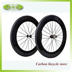 Najlepsza sprzedaż! 700C koła drogowe jazda na rowerze 88mm karbonowe koła do roweru rower wyścigowy nity do kół