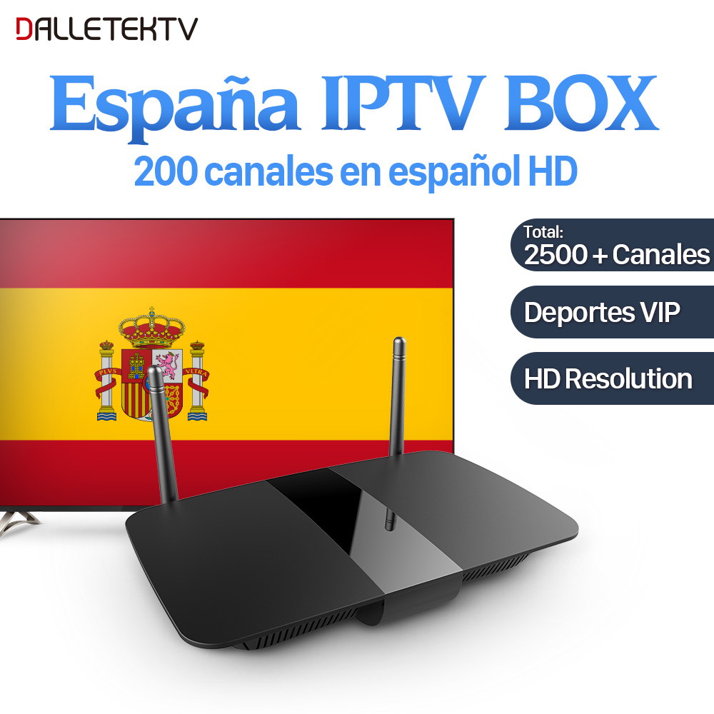 Spanish Iptv Box 2500+Channels Android Box with 1 Year IUDTV IPTV Subscription IPTV Italy Germany UK Spain Greek Turkey Portugal