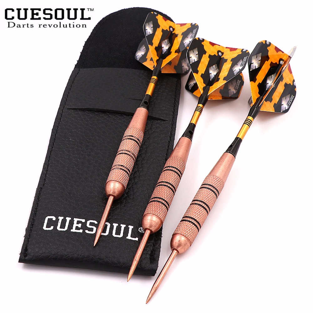 CUESOUL Brass Barrels Nickle Planting Darts Professional Steel Tip Darts Set with Darts Bag