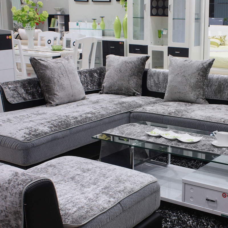 Sectional Couch Slipcovers Light Grey Purity Four Seasons ...
