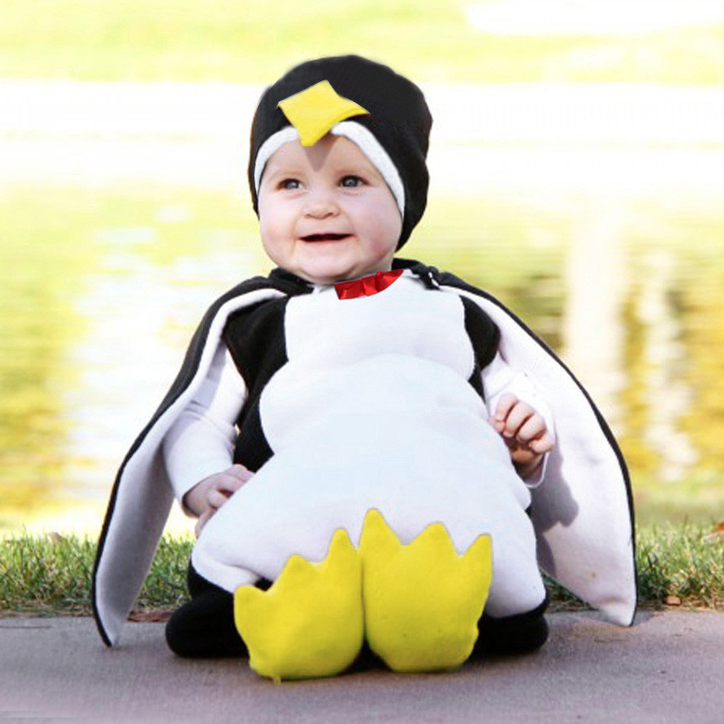 CHAMSGEND Baby Boy Girl Explosive Cosplay Cartoon Penguin Styling Set JAN15