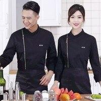 Men Women Chef Service Workwear Long Sleeve Chef Uniform Food Cooking Clothes Hotel Restaurant Kitchen Cook