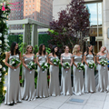 Off the Shoulder Mermaid Bridesmaid Dresses sliver Spandex Satin Wedding Guest Dresses formal Gowns   Z1000