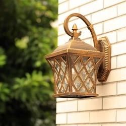 HAWBOIRR LED europejski styl prosty odkryty kreatywny kształt sieci rybackiej wodoodporna retro lampa do korytarza mieszkalnych ulicy ściany lam w Zewnętrzne lampy ścienne od Lampy i oświetlenie na