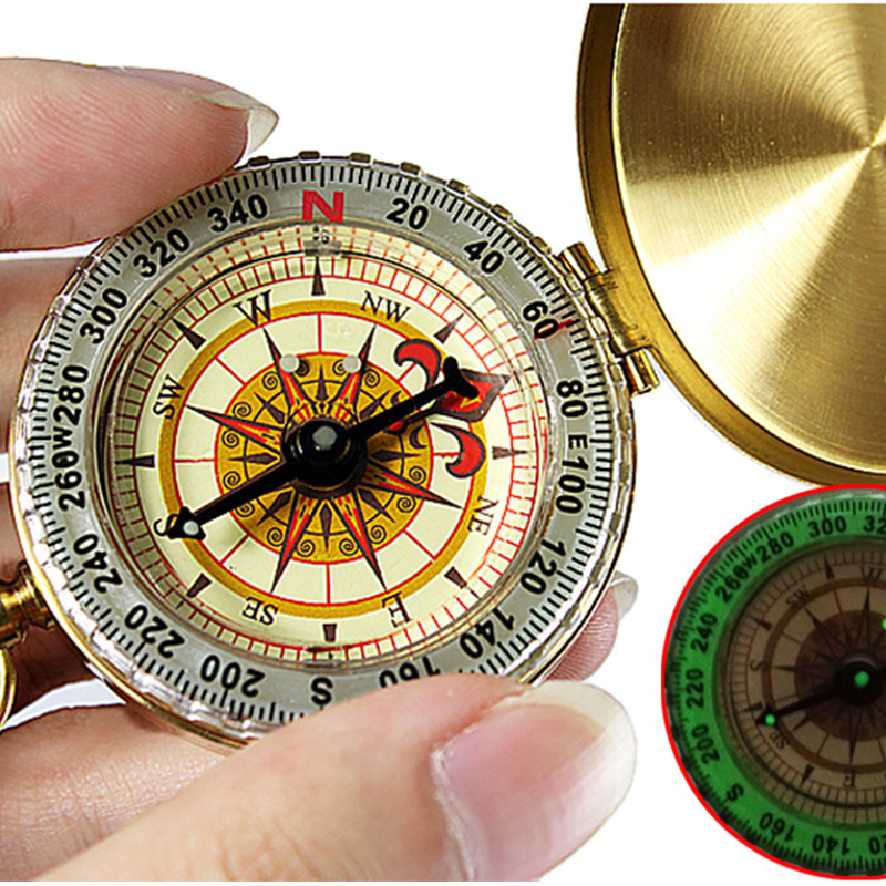 Hiking Camping Portable Compass Navigation for Outdoor Activities Luminous
