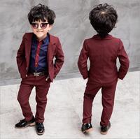 Boys Gentleman Formal Suits Striped Fashion Blazer+shirt+Pant 3pcs boys set Kids Wedding Suits Children Party Clothing Sets