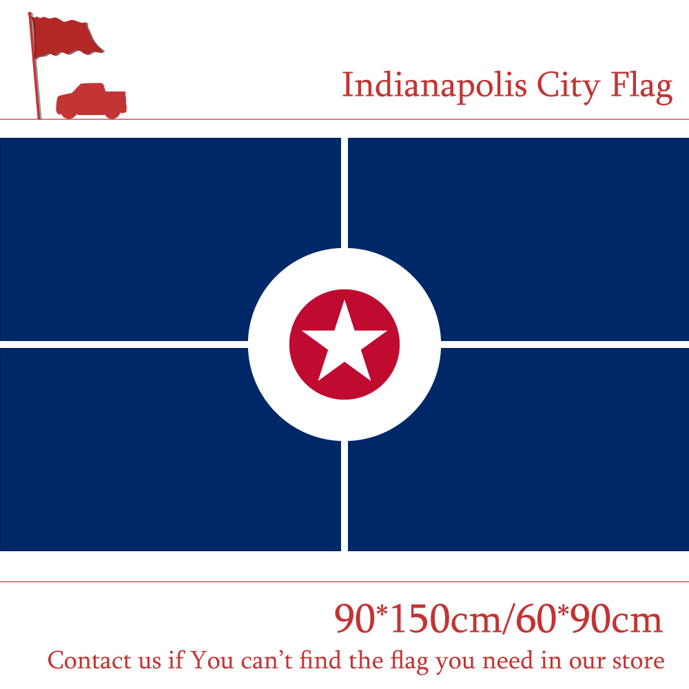 90 150cm 60 90cm US Indianapolis City Flag The capital of Indiana 3x5ft Custom High quality Banners For Home decoration in Flags Banners Accessories from Home Garden