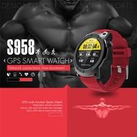 S958 GPS Smart Horloge Outdoor Activiteit Sport Waterdichte Hartslagmeter Sim-kaart Call Smartwatch Compatibel voor Android IOS