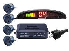 Alarma BIBI para coche, Sensor de estacionamiento con luz LED con 3 sensores de marcha atrás, sistema de detección monitorizado con pantalla de Radar