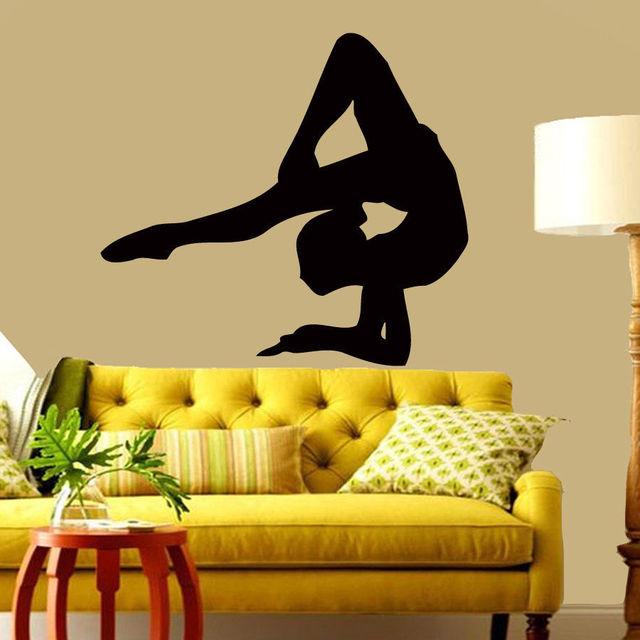 E206 Gymnast Wall Stickers DIY Vinyl Decal Dance Sport Classic ...