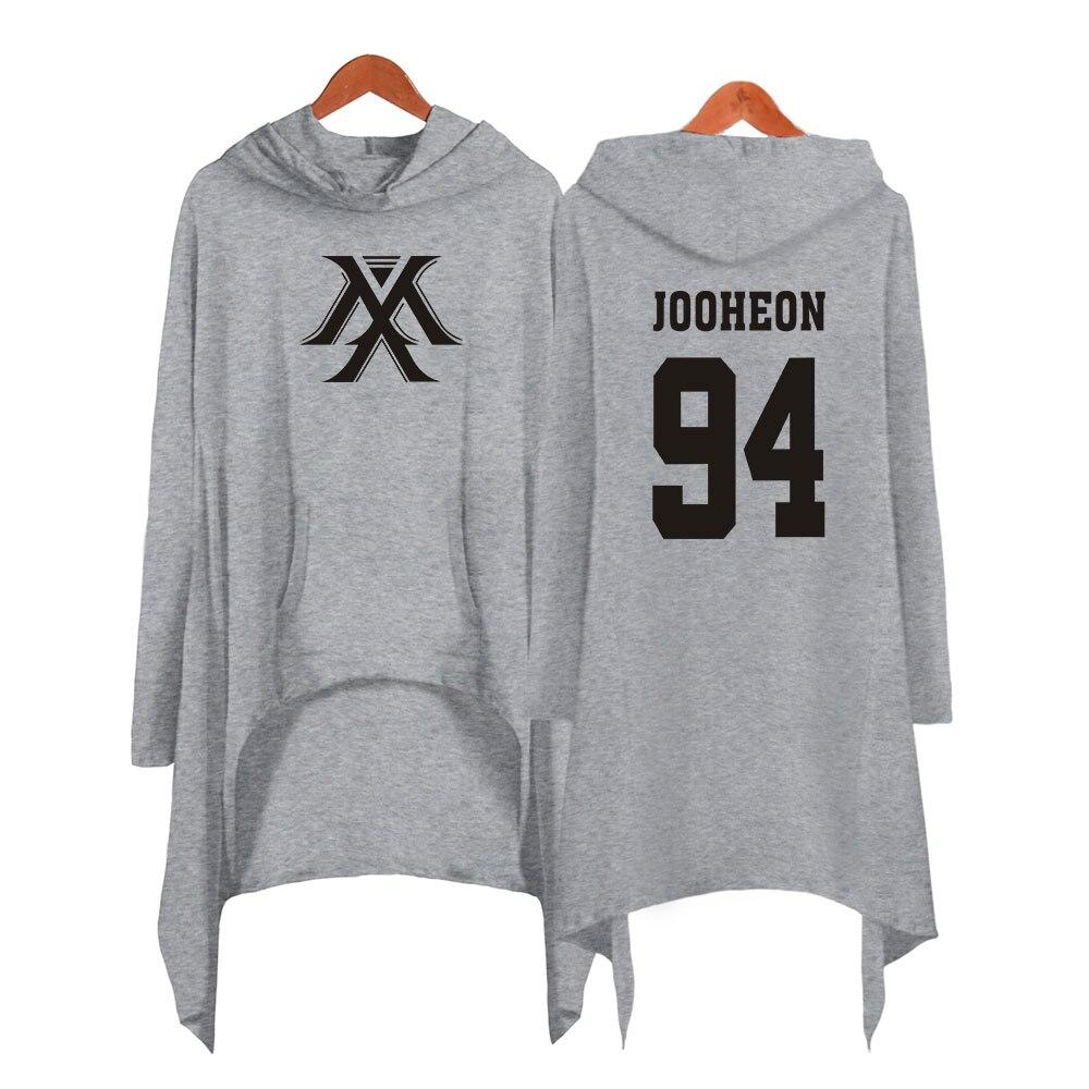 Image 4 - Drop shopping Monsta x dress fashion 2019 women Hooded sweatshirt Monsta x kpop clothes pullover-in Hoodies & Sweatshirts from Women's Clothing
