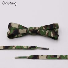 Coolstring Laces Manufacturers Digital Print Flat Camouflage Shoelaces Custom 60-180cm Camo Sports Bootlaces Printing 7mm Width(China)