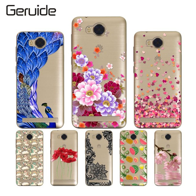 buy popular a062f cb45b US $1.56 |Geruide For Huawei Y3II Case Cover, Printed Soft Silicon TPU Back  Cover Case For Huawei Y3 II Y3 2 Lua L21 LU22 4.5