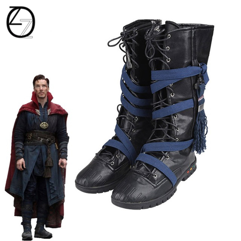Costumes & Accessories Shoes Doctor Strange Cosplay Costume Accessory Stephen Steve Vincent Strange Cosplay Boots Doctor Strange Cosplay Shoes Leather Boots
