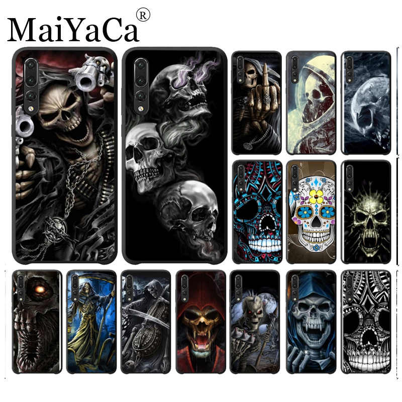 Grim Reaper Skull Skeleton Soft Shell Phone case Cover For huawei honor 8x 7a honor view10 lite honor 20 lite honor 10 Cover