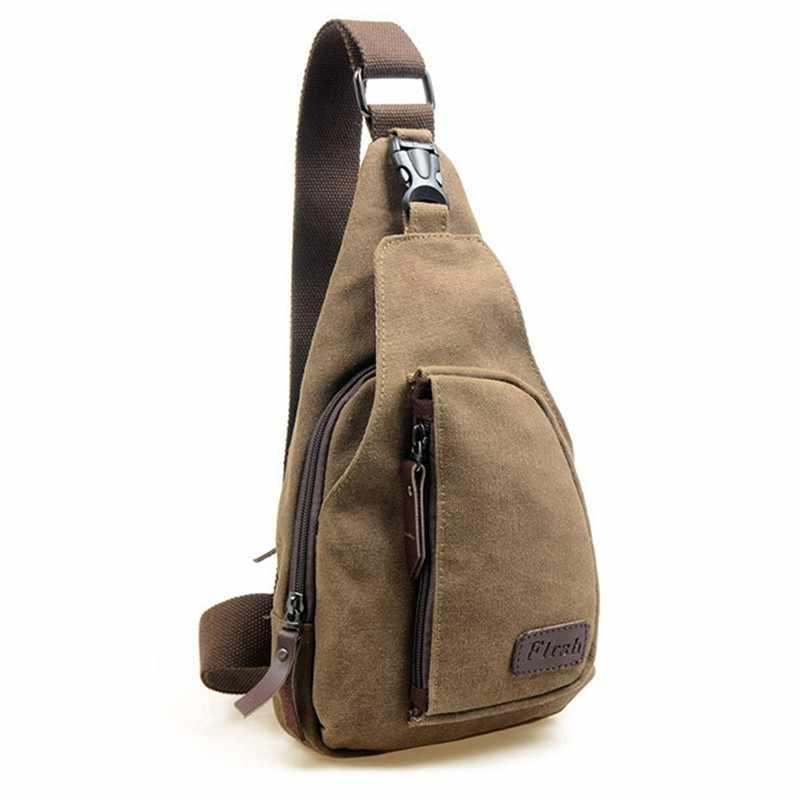 Горячая 2019 Модные Винтажные мужские сумки через плечо нагрудные холщовые водонепроницаемые сумки для мужчин военная сумка через плечо Bolsas X0005