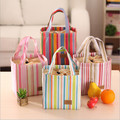 2017New Fashion Portable Insulated Canvas lunch Bag Thermal Food Picnic Lunch Bags for Women kids Men Cooler Lunch Box Bag Tote
