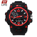 Hot TTLIFE Mens Dual Watch Digital Analog Multifunction Wrist Watches Sports Watches Waterproof Fashion Casual Large Dial Watch