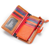 2018 New Fashion Genuine Leather Women Wallets Leather Purse Multi Card Bit Card Holder Coin Purse