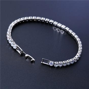 Cubic Zirconia Tennis Bracelets Iced Out Chain Crystal Wedding Bracelet 2