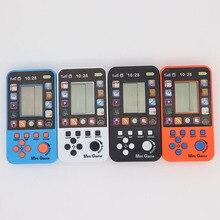 10 шт. мини тетрис детская портативная игровая консоль Портативный ЖК-экран игры Детские игрушки Обучающие электронные игрушки Классические