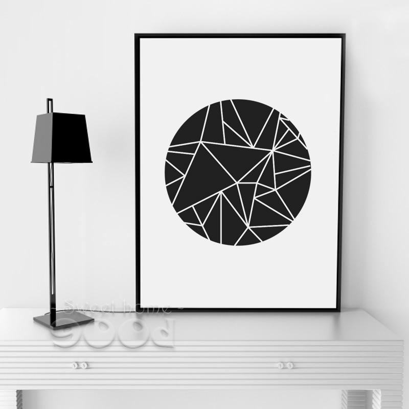 Simple Geometric Shape Canvas Art Print Poster Wall