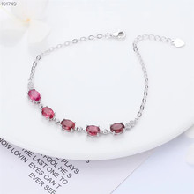 jewelry factory wholesale 925 sterling silver natural red tourmaline adjustable  gemstone bracelet for women gemstone jewelry factory wholesale white 925 sterling silver natural green tourmaline adjustable beaded bracelet for women