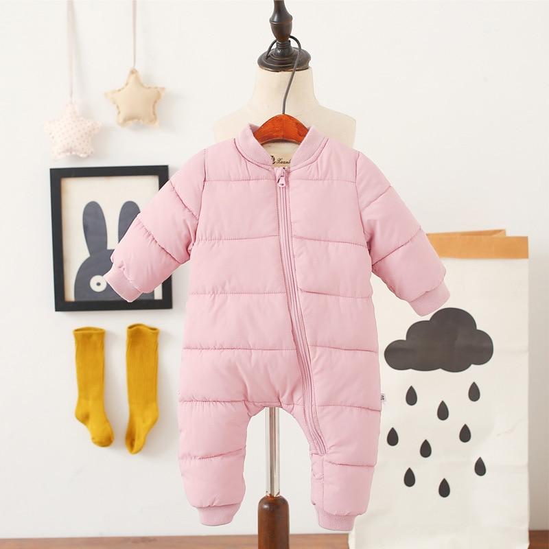 2018 spring Winter Jumpsuit Baby Newborn snowsuit Snow Wear Coats Boy Warm Romper  Cotton Girl clothes Bodysuit