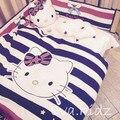 ¡ Promoción! 7 unids Hello Kitty bebé juego de cama edredón almohada parachoques hoja de cama ropa de cama cuna set, incluye (parachoques/hoja/almohada/edredón)