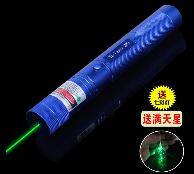 Hunting 100000m 532nm High Power Military Lazer Flashlight Green Laser Pointer Focus Burning Match Burn Cigarette SD L 303