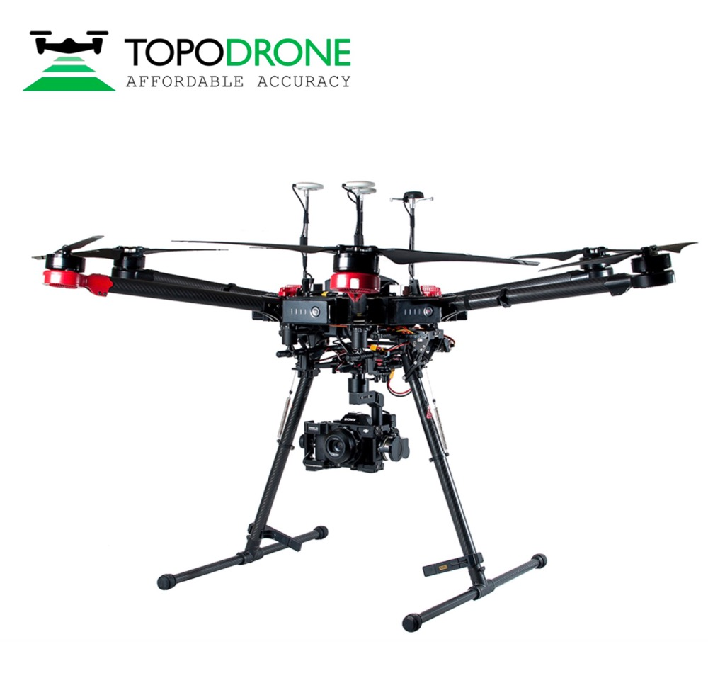 Topodrone DJI Matrice 600 Pro RTK/PPK for precision aerial survey drones airplane Max fly 30KM