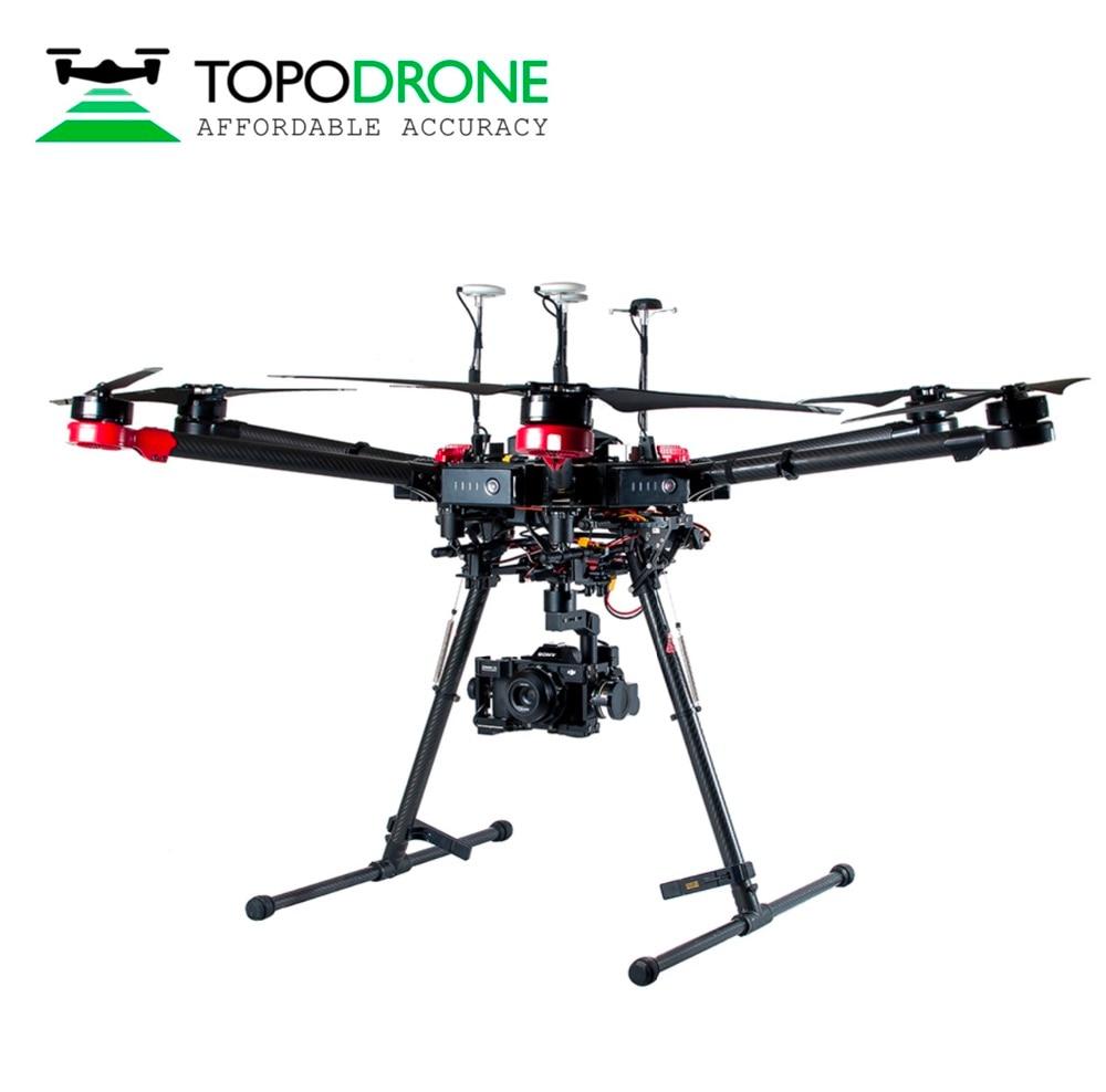 Topodrone DJI Matrice 600 Pro RTK/PPK for precision aerial survey drones airplane Max fly 30KM