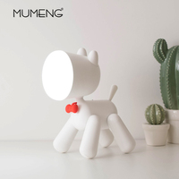 Creative LED Puppy Table Lamp Bedroom & Reading Desk Light DC 5V Bedside Lamp Dimmable decorative lamp for Children
