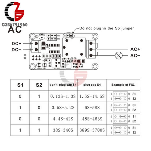 US $1 03 17% OFF|DC 12V Time Relay Module Normal Open Time Delay Relay  Timing Timer Relay Control Switch Adjustable Potentiometer LED Indicator-in