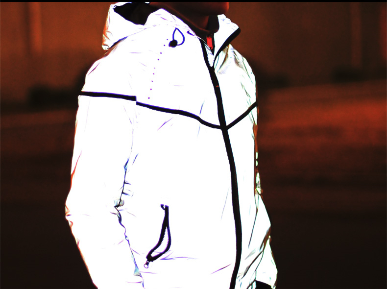 Breathable male reflective clothes coat skateboard disciplinarian plus size