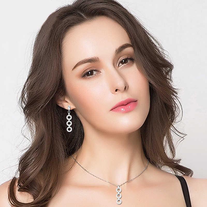 2017 Baru Sehat Keramik Beberapa Lingkaran Liontin Kalung untuk Wanita Hitam Putih Keramik Lingkaran Lapisan Drop Kalung Perhiasan