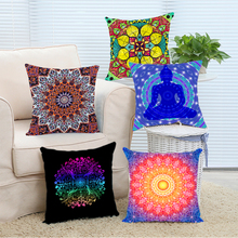 Buddha Floral Mandala Armenia Hamsa Hand Indian Bohemian Nice Invisible  Zipper Throw Pillow Cover Chair Hotel