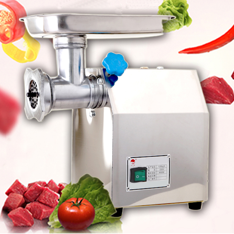 Electric Meat Grinder Stainless Steel Meat Slicer 1.14HP Mincer 850W Sausage Grinder Industrial Butcher with Blade Plate new household multifunction meat grinder high quality stainless steel blade home cooking machine mincer sausage machine