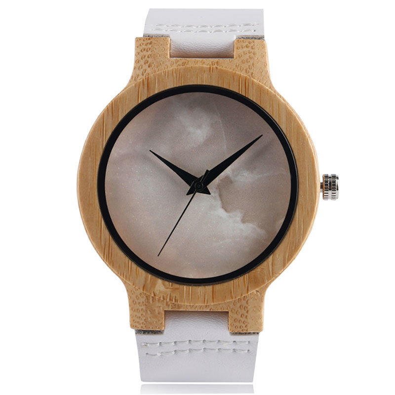 Creative Wooden Watch for Men Women Bamboo Wood Quartz Watches with Soft Leather Straps relojes mujer marca de lujo 2017 time100 relojes marca w50131l 02a