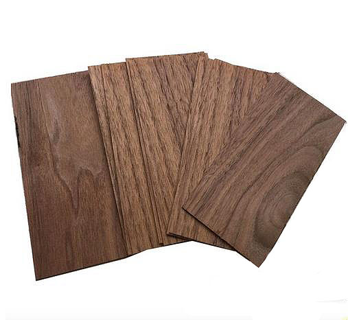 "Pommele Sapele Wood Veneer 3 Sq Ft 5 Sheets 12"" X 8"""