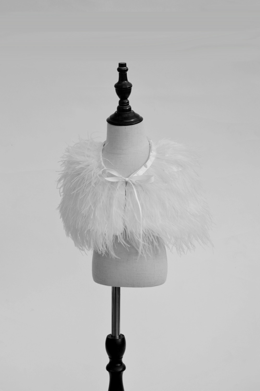Children newborn girl woman fur cape infant formal princess cape baby plush cloak kids dress cape bridesmaids feather Boleros