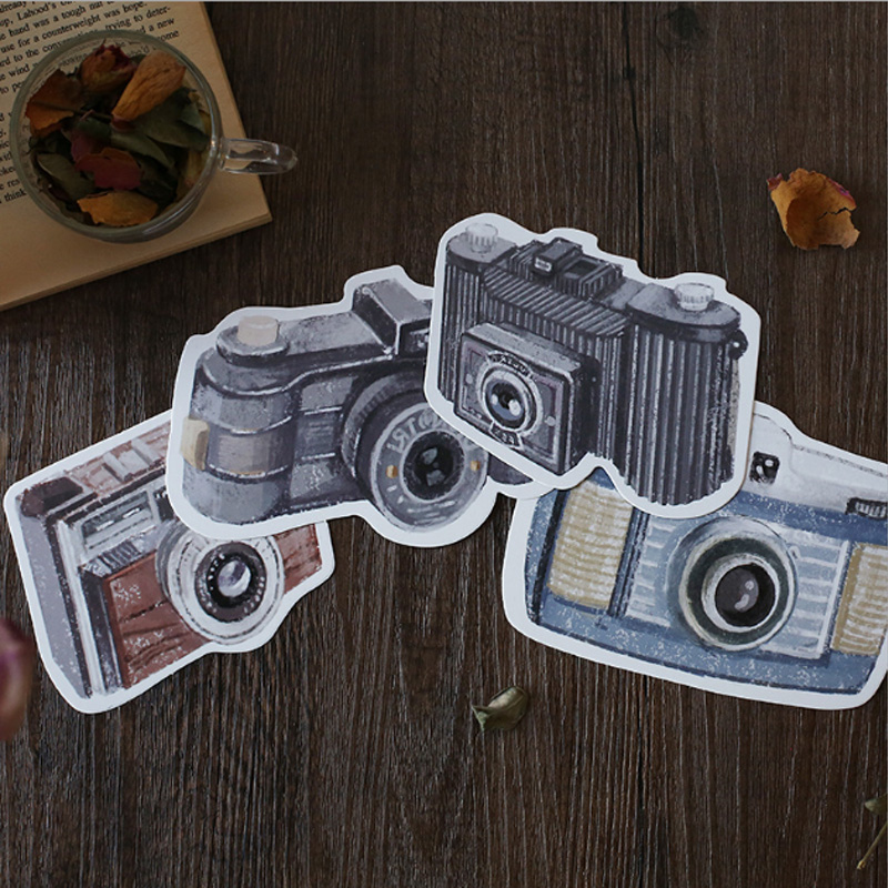 30 pcs/pack Creative Color camera Greeting Card Postcard Birthday Letter Envelope Gift Card Set Message Card Free shipping 30 pcs pack creative cup of coffee shape coffee diary postcard diy envelope gift birthday card mini message card paper bookmark
